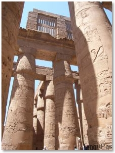 Columns of an Egyptian Temple